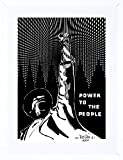 9x7 '' PROPAGANDA POLITICAL BLACK PANTHER POWER PEOPLE FRAMED ART PRINT F97X928