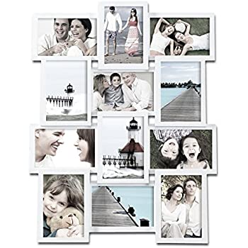 Amazon.com - Adeco [PF0174] White Wood Wall Collage Basket-Weave ...