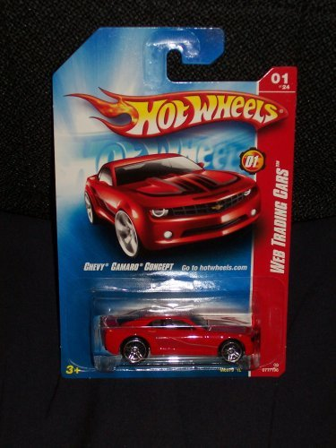 (Hot Wheels Chevy Camaro Concept 2008 Web Trading Cars Series # 1 of 24 Red Chevy Camaro Concept 1:64 Scale Collectible Die Cast Car #77)