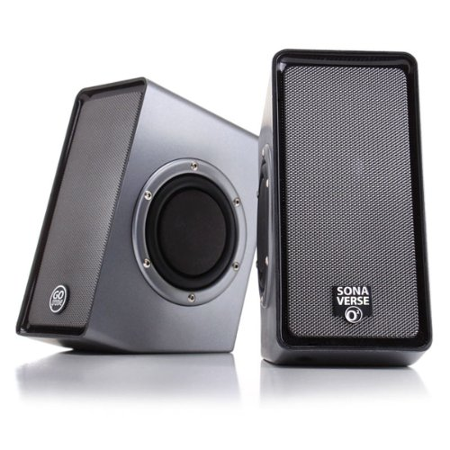 PC Computer USB Powered Speakers w/ 3.5mm AUX Input by GOgroove -...