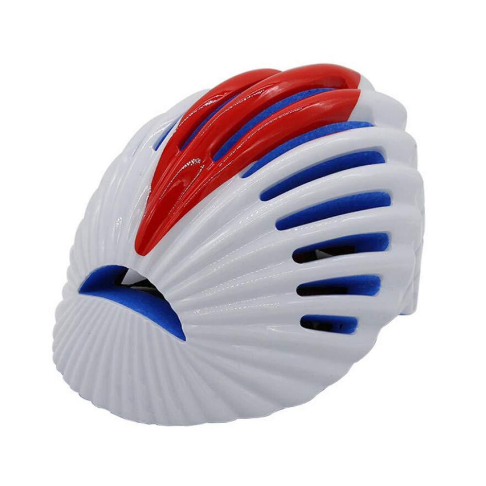 LBAFS Smart Helm Outdoor Radfahren 3D Blautooth Smart Schutz Berg Rennrad Helm Für Erwachsene Einstellbar,WeißROT