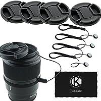 Lens Cap Bundle - 4 Snap-on Lens Covers for DSLR Cameras...