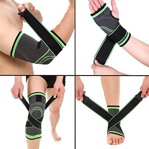 Price comparison product image Protector Pads Bandage Running Compression Sleeve Wrist / Elbow / Knee / Ankle Support Brace Strap Basketball
