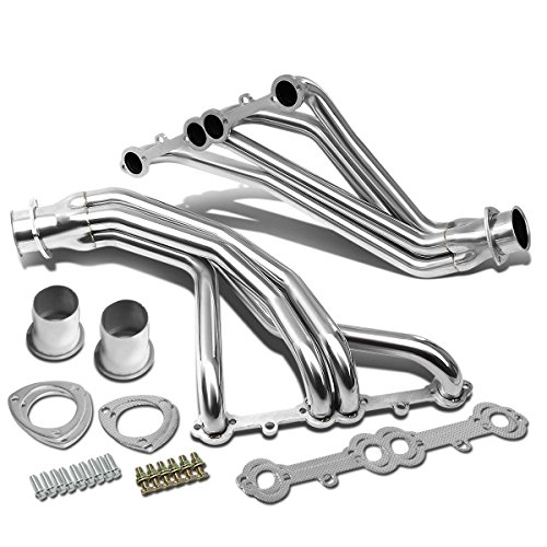 (For Chevy/GMC C/K-Series Small Block V8 2pcs Stainless Steel Header/Exhaust Manifold (Polished))
