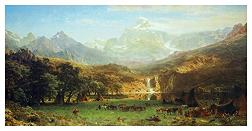 Global Gallery Art on a Budget DP-133258-2448 Albert Bierstadt The Rocky Mountains Lander'S Peak Unframed Giclee on Paper Print, 24