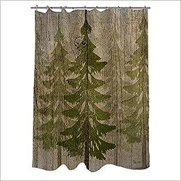 Nature Shower Curtain Bath Window Pine Tree 0761193380729 Amazon Books