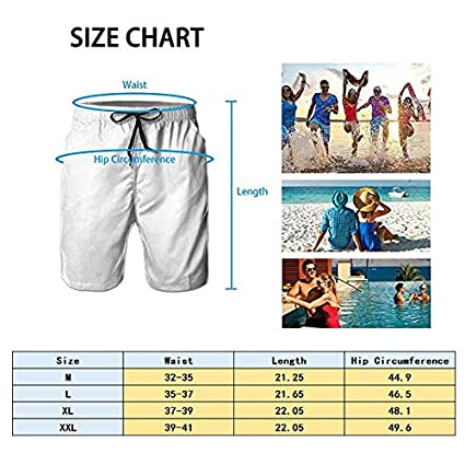 AGRBLUEN Men Quick Dry Comfortable Casual Beach Board Shorts Polyester Pants