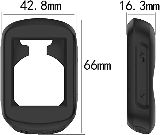 Silicone Protective Case Cover Shell for Garmin Edge 130 MOTONG for Garmin Edge 130 Case Cover Silicone Black