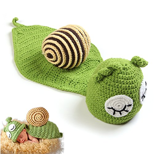 Sea Team Cute Infant Newborn Baby's Crochet Clothes Baby Photograph Props, Snail (Cute Baby Costume)