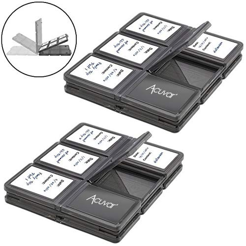 Acuvar 24 Slots, SD/SDHC Memory Card Hard Plastic Cases