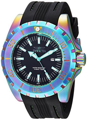 Invicta Men's Pro Diver Stainless Steel Quartz Watch with Polyurethane Strap, Black, 26 (Model: 23742