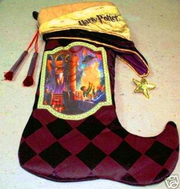 velvet harry potter literary themed christmas holiday stocking