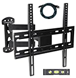 Ryehaliligear Full Motion TV Wall Mount Bracket for Most 20'-55' LED LCD Plasma Flat Screen, Up to VESA 400 x 400 Compatible 66Lbs