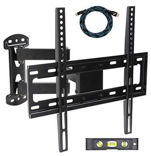 EASYGOING Full Motion Tilt Articulating Cantilever Swivel Single Arm LCD TV Wall Mount bracket for 20
