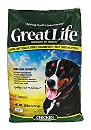 Great Life Freeze Dried Chicken Dog Food, 33 lb