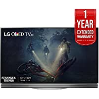 LG OLED55E7P - 55 E7 OLED 4K HDR Smart TV (2017 Model) + Extended 1 Year Warranty Bundle