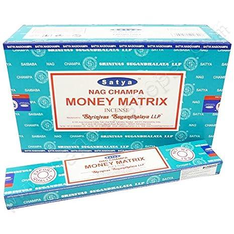 Incienso Nag Champa Money Matrix - x12: Amazon.es: Hogar