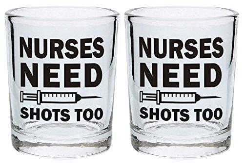 Nurses Nursing School Glasses 2 Pack