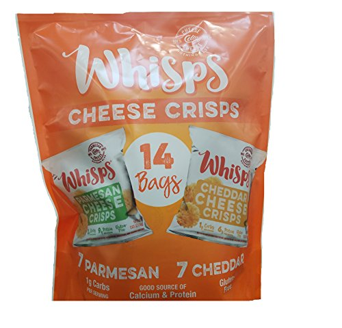 Cello Whisps Variety Paremsean and Cheddar, 14 Count (.551), 8.82 Ounces by Whisps (Image #1)