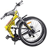 "Camp 26"" Disc Brake Shimano 21 Speed Folding Bike Dual Suspension MTB Bike Vector"