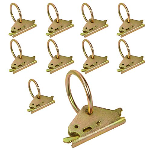 Used, Eapele 10PCS Steel E-Track O Ring Tie-Down Anchors for sale  Delivered anywhere in USA