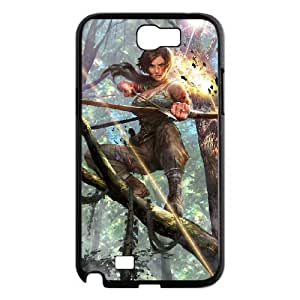 FLYBAI Rise Of The Tomb Raider Lara Croft Phone Case For Samsung Galaxy Note 2 N7100 [Pattern-1]