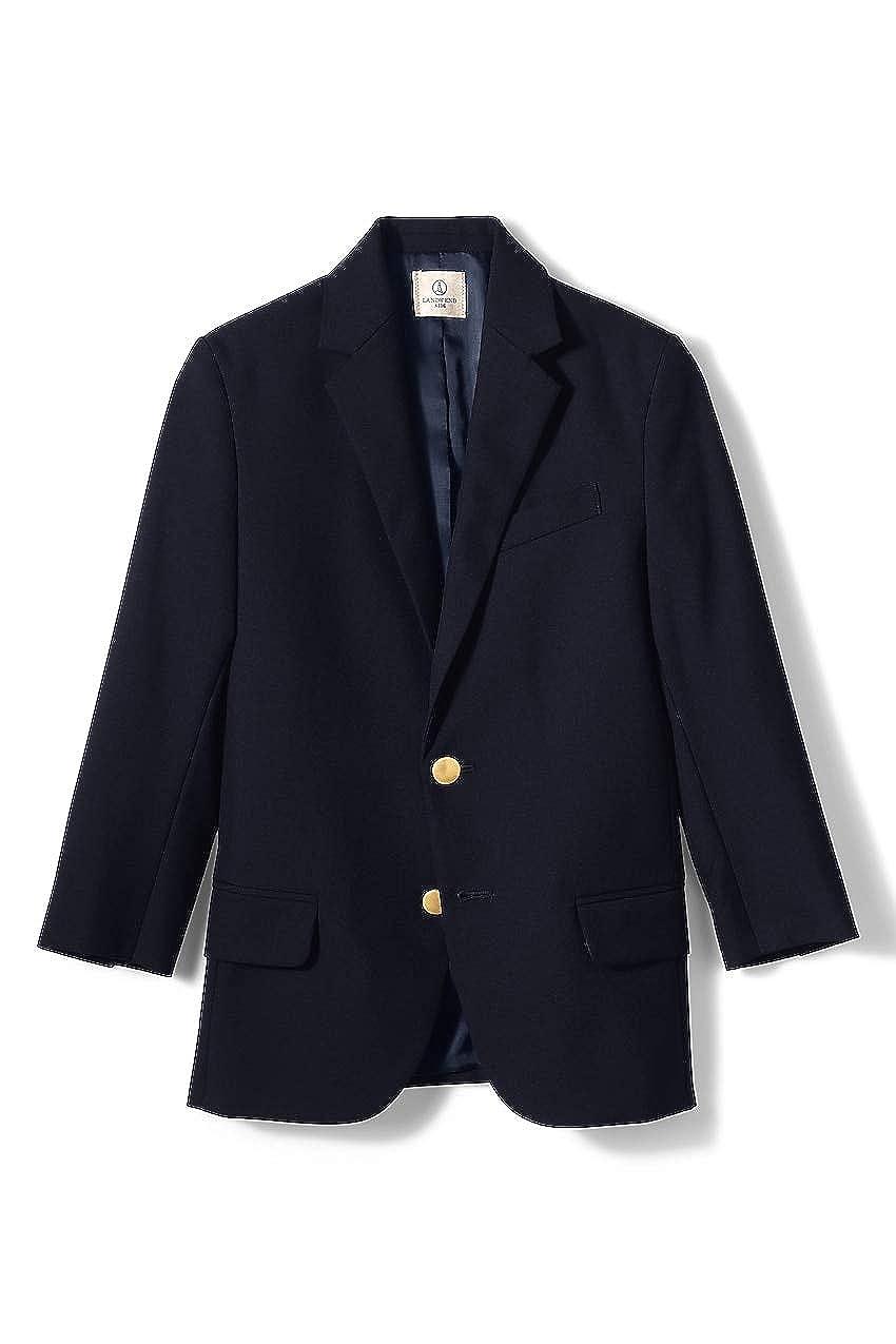 Lands End School Uniform Little Boys Hopsack Blazer