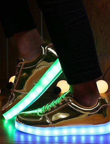Ei&iLI Zapatos de Hombre - Sneakers a la Moda - Casual / Deporte - Sintético - Plata / Oro , golden , us7 / eu39 / uk6 / cn39 golden