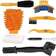 Oumers Bike Clean Brush Kit, Motorcycle Bike Chain Cleaning Tools - Make Bicycle Crank/Tire/Sprocket/Corner St