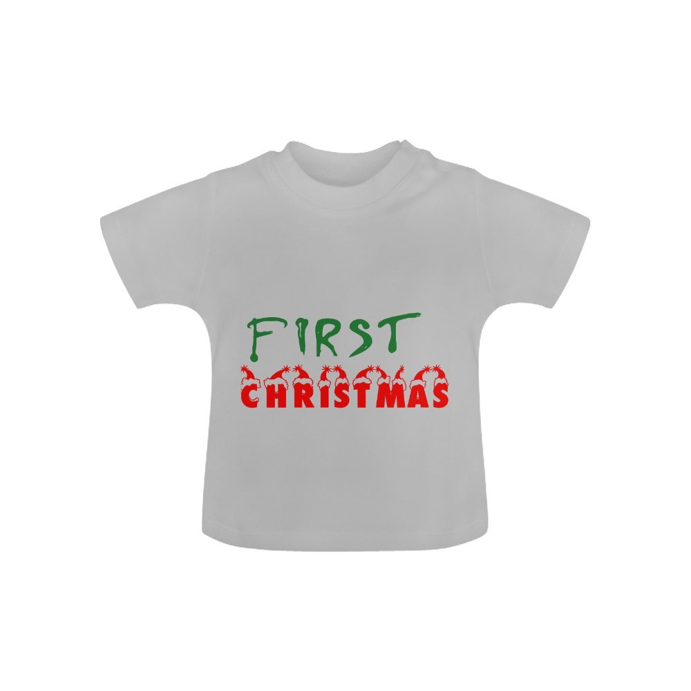 Infant T-shirt First Christmas Cotton Crew neck Short Sleeves Classic T-shirt For Baby 6 months to 24 months