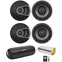 (4) Polk Audio MM652 6.5 1200w Car Audio/Marine Speakers+Rockmat+Free Speaker