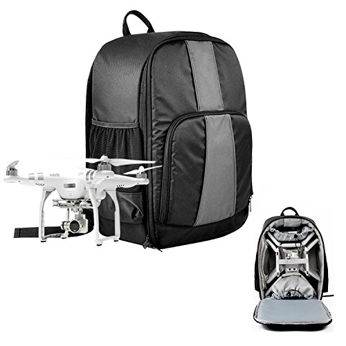 Caden Multi Function Waterproof Universal UAV Drones Backpack Case For Quadcopter Drone and Canon, Nikon,Sony,Olympus,DSLR SLR Cameras,Fit all DJI Phantom 4/ 3/ 2 Series,GoPro Cameras