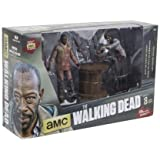 Unbekannt The Walking Dead Deluce Box Actionfigur Morgan Jones und Zombie mit Lanzenfalle