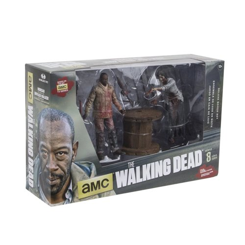 Morgan Model Ship (McFarlane Toys The Walking Dead TV Morgan Jones with Impaled Walker and Spike Trap Deluxe Box Action)