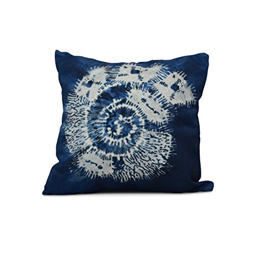E by design Conch Animal Print Pillow, 16'' x 16'', Blue by E by design