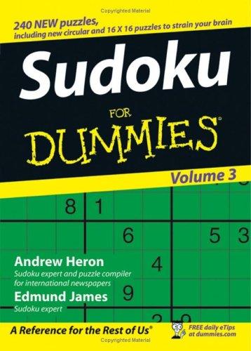 Sudoku Dummies 3 Andrew Heron product image
