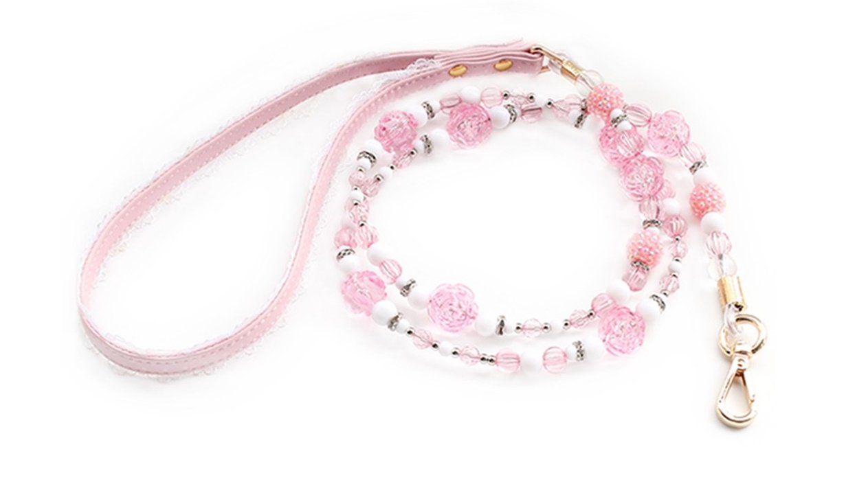 GVGs Shop 1 Pack Plastic Bead Lead Flowers Dog Cat Pet Collar Soft Elastic Bow Bell Tag Flower Expert Popular Small Extra Large Wide Reflective Safety Breakaway Training Camo Kitten Collars