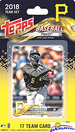 Pittsburgh Pirates 2018 Topps Baseball EXCLUSIVE Special Limited Edition 17 Card Complete Team Set with Josh Harrison, Felipe Rivero & Many More Stars & Rookies! Shipped in Bubble Mailer! ()