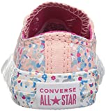 Converse Girls' Chuck Taylor All Star Metallic Foil Low Top Sneaker, Orchid Pink, 6 M US Toddler