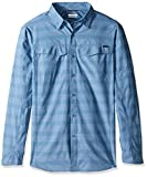 Columbia Men's Big-Tall Silver Ridge Plaid Long Sleeve Shirt, Steel Stripe, Large