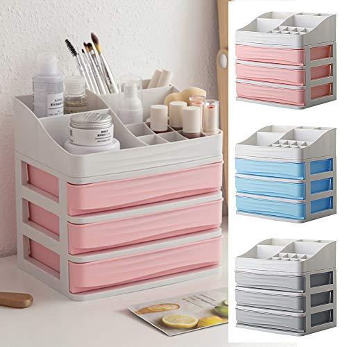 Make up Makeup Organiser with Drawers, Makeup Holder Cosmetic Organiser Box  Jewellery Storage Box Acrylic Cosmetics Organiser Lipsticks Makeup