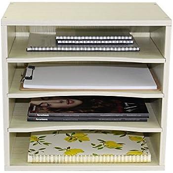 Vintage Rustic Wooden Office Desk Organizer Mail Rack for ...  Desktop Mail Organizer For Kitchen