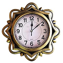 SUN-E Modern Vintage European Style Wall Clocks Decorative for Home,Office,Perfect Wall Decoration 12 Inch Upgrade(Gold)