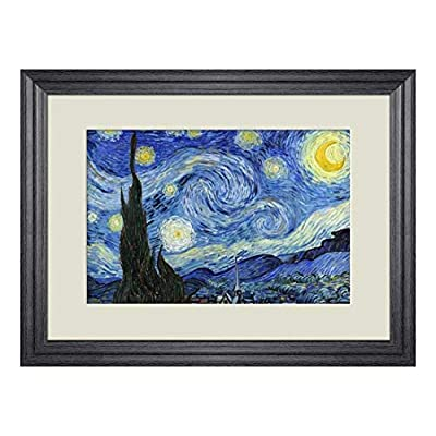 Creative 3D Visual Effect Wall Mural - Starry Night by Vincent Van Gogh - Peel & Stick Wall Decor - 24