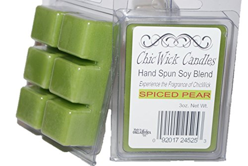 ChicWick Candles 2Pack Spiced Pear Soy Blend Wax Melts 6oz 12 Wax Cubes Wax Tarts Wax Chunks, 50 Plus Hours of Quality Fragrance