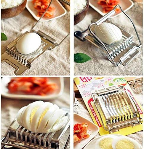 Peanutaod Silber Farbe Einfach zu bedienen und zu reinigen Edelstahl gekochte Eierschneider Abschnitt Cutter Pilz Tomaten Cutter Küche Neuheit Werkzeug Silber