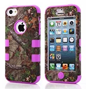 iphone 5C case,5C hard Case,hard iphone 5c case,Ezydigital Carryberry 3in1 Hybrid High Quality Palm Tree Series Hard Plastic + Silicone Slim Fitted Protection Case Cover for iPhone 5C