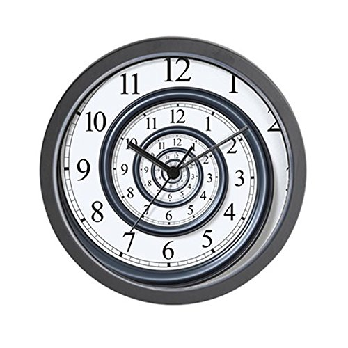 CafePress Spiral Unique Decorative Clock
