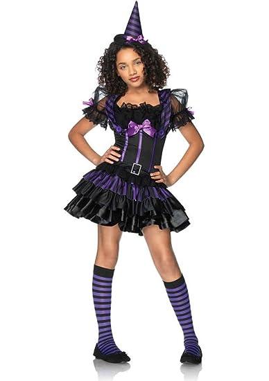 Witch Costume Teen Junior Tween Halloween Fancy Dress