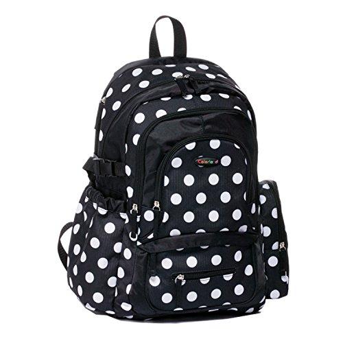 bigforest gran capacidad momia multifunción mochila bolsa de viaje bolso de maternidad Baby Diaper Nappy bolso cambiador Flower Talla:talla única negro
